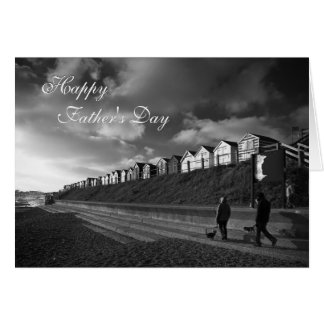 Beach Huts - Father's Day fine art - Fishing Greeting Card
