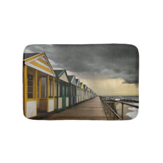 Beach Huts In A Summer Storm | Southwold Bath Mat
