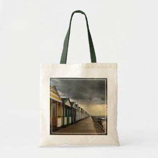 Beach Huts In A Summer Storm | Southwold Budget Tote Bag