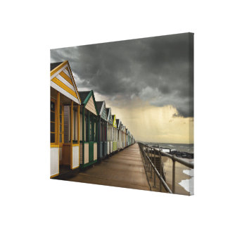 Beach Huts In A Summer Storm | Southwold Canvas Print