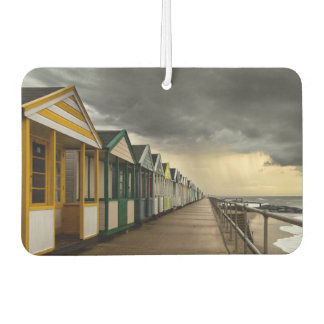 Beach Huts In A Summer Storm   Southwold Car Air Freshener