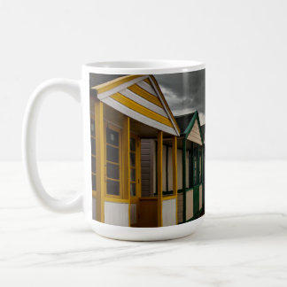 Beach Huts In A Summer Storm | Southwold Coffee Mug