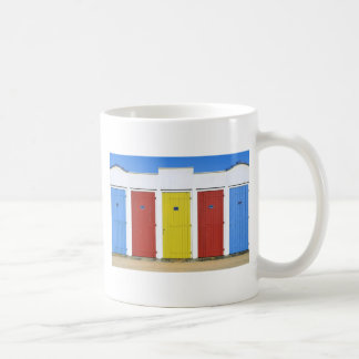 Beach huts in Vendée in France Basic White Mug