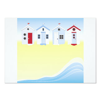 Beach Huts Invitations