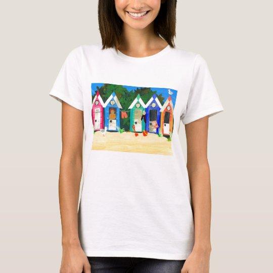 'Beach Huts' Ladies' T-shirt