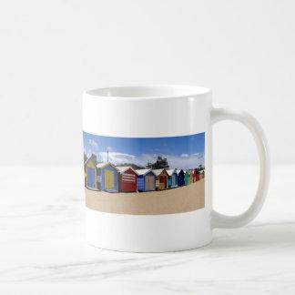 Beach Huts Melbourne 2 Basic White Mug
