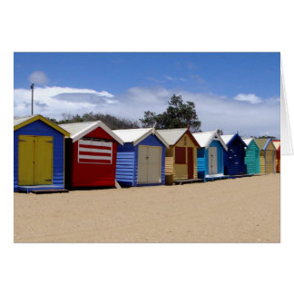 Beach Huts Melbourne 2 Card