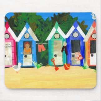 'Beach Huts' Mousepad