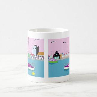beach huts mugs