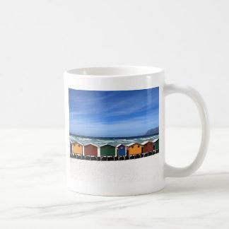 Beach Huts Basic White Mug
