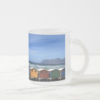 Beach Huts on Frosted Mug