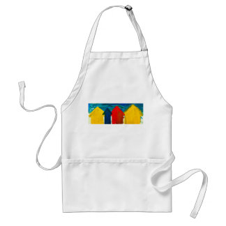 Beach huts painting standard apron