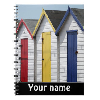 Beach Huts personalised Notebook