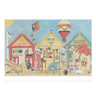 Beach Huts Postcard Post Cards
