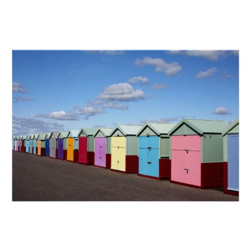 Beach Huts Print