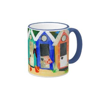 Beach Huts Ringer Mug