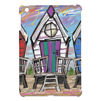 Beach Huts RWB Case For The iPad Mini