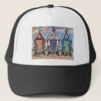Beach Huts RWB Trucker Hat