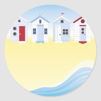 Beach Huts Stickers