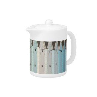 Beach huts teapot