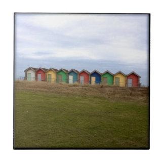 Beach Huts Tile