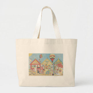 Beach Huts Tote/ Beach Bag