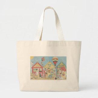 Beach Huts Tote/ Beach Bag Canvas Bag