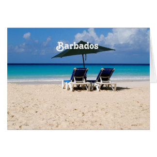 Beach in Barbados Card