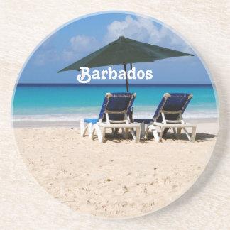 Beach in Barbados Drink Coasters