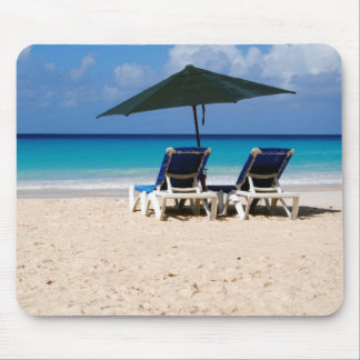 Beach in Barbados Mouse Mat