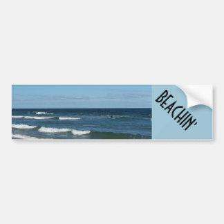 Beach in' Bumper Sticker
