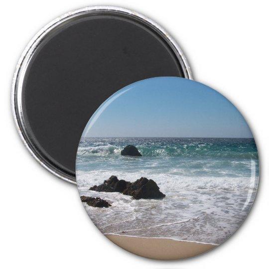 Beach in Carmel, Ca. 6 Cm Round Magnet