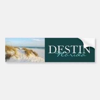 Beach in Destin, Florida bumper sticker Car Bumper Sticker