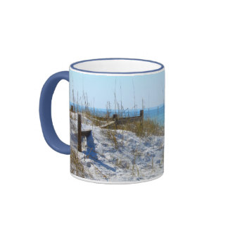 Beach in Florida Ringer Mug