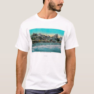Beach in front of the Bath House, Long Beach T-Shirt