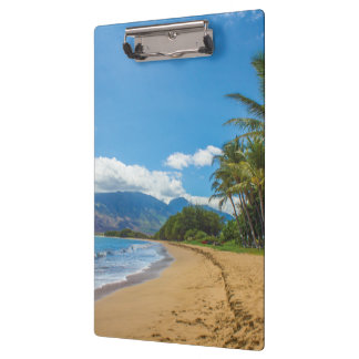 Beach in Hawaii Clipboard
