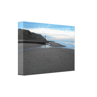 Beach in Mundesley, Norfolk by Alexandra Cook Canvas Prints