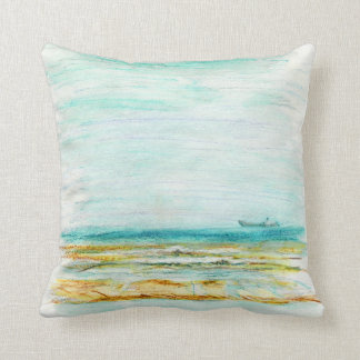 Beach in Mundesley, Norfolk by Alexandra Cook Cushions