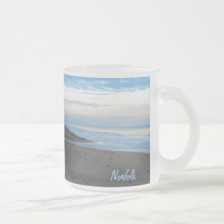 Beach in Mundesley, Norfolk by Alexandra Cook Frosted Glass Mug