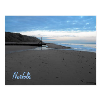 Beach in Mundesley, Norfolk by Alexandra Cook Postcard