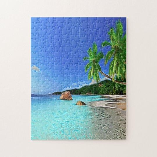 Beach in paradise puzzle