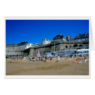 Beach in St Malo, France Greeting Cards