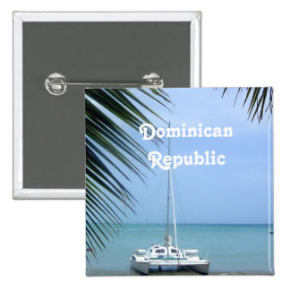Beach in the Dominican 15 Cm Square Badge