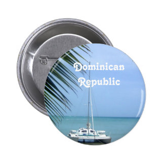 Beach in the Dominican 6 Cm Round Badge