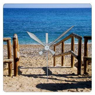 Beach in Villajoyosa, Alicante, Spain Wall Clock