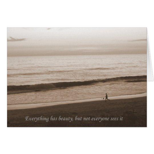 Beach Inspirational Notecard