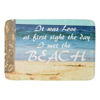 Beach inspired bath mat Large