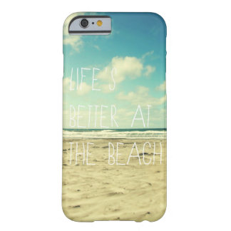 Beach iPhone 6 case ocean typography Barely There iPhone 6 Case