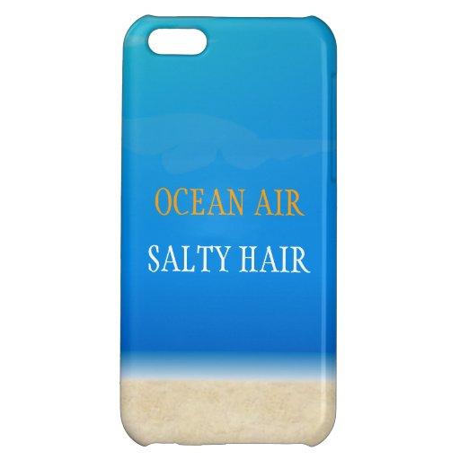 Beach Iphone Cover - Ocean Air Salty Hair iPhone 5C Case