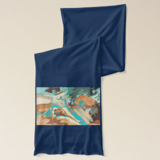 """Beach"" Jersey Scarf by Mar"